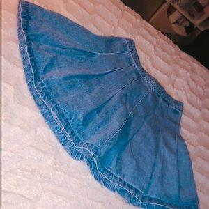 Denim Cheer Skirt